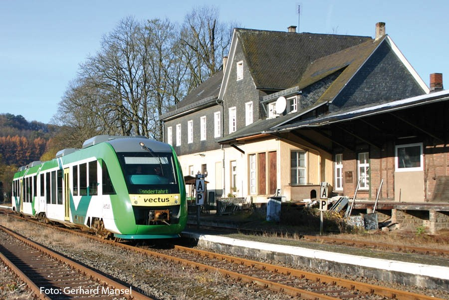Station building of Wiehl with attached freight shed (Photo Gerhard Mansel)